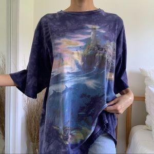 Vintage The Mountain Lighthouse Purple T-Shirt